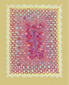 "Content"" Reduction Relief Print 2013 Dimensions 22.5"" x 18"""