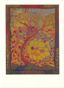 """Tree #7"" Reduction Relief Print, 2006 Dimensions 24"" x 18"""