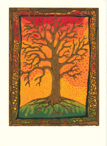 """Tree #4 - Broken Thoughts"" Reduction Relief Print, 2005 Dimensions 24"" x 18"""