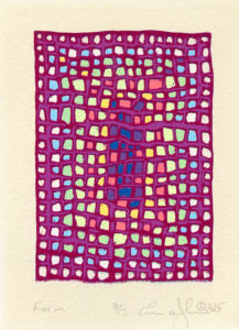 """""""Form"""" Reduction Relief Print 2015 Dimensions 3 ¾"""" x 2 ½"""""""