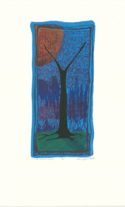 """Tree #16 - That's What I Figured...""Screen Print, 2007 Dimensions 12.75"" x 6.25"""