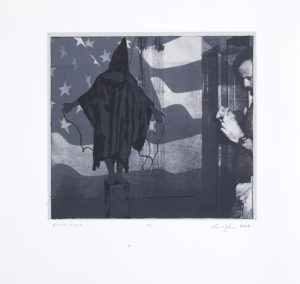 ".  ""Disaster of War"" Screen Print, 2008 Dimensions 13"" x 14.5"""